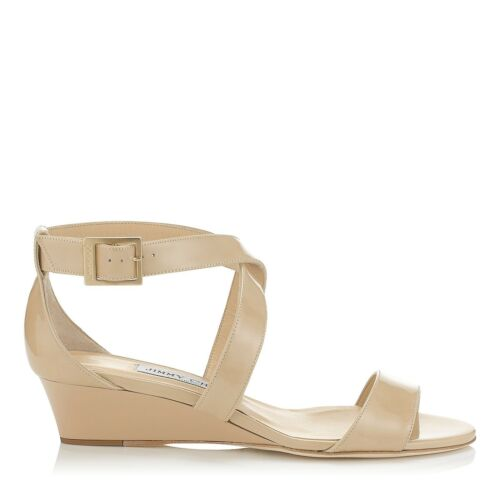 Low Nude Size Chiara Jimmy 4 Heel Eu Patent Wedge Choo Demi 37 Uk Sandals w6wqER05