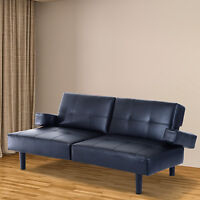 homcom sofa bed fold down sleeper chair convertible furniture couch modern guest - Fold Out Sleeper Chair