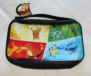 Pokemon-Kanto-Starter-Kids-Black-Printed-Insulated-Lunch-Box-Cooler-Bag-New