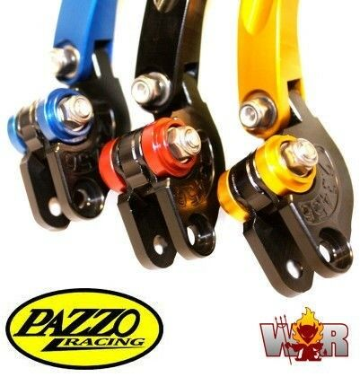 KTM 1290 SuperDuke 14-17 PAZZO RACING FOLDING Lever Set ANY Color /& Length Combo