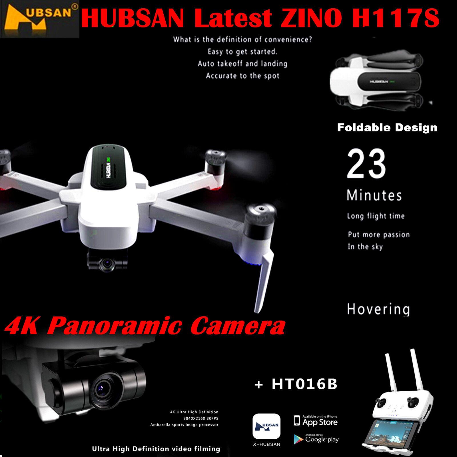Hubsan X4 H117S ZINO Drone FPV 4K HD Cámara Plegable Cuadricóptero 3 Cardán Gps Listo Para Volar