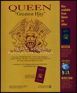 QUEEN-Greatest-Hits-Original-1992-print-AD-music-promo-mini-poster