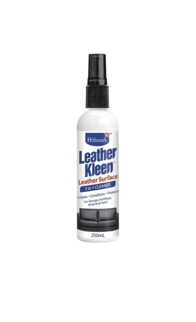 Hillmark LEATHER KLEEN 3 in 1 Cleaner Spray w/ UV Protection 250ml Aust Wide Pos