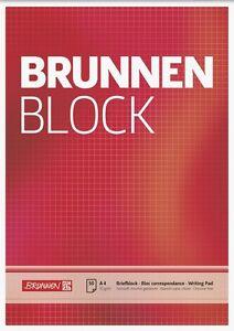 10 x Brunnen Briefblock Schreibblock Notizblock A4 kariert weiss 50 Blatt 70g