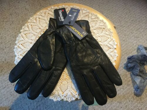 Thinsulate New Mens Stafford  Leather Gloves LARGE.. Black Touchtech