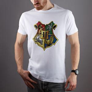 Harry-Potter-T-SHIRT-art-Grifondoro-Serpeverde-T-shirt-manica-corta-Camicia-Stampata
