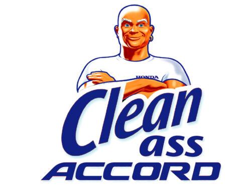 "3""Clean Ass Accord matte color Sticker BLUE"