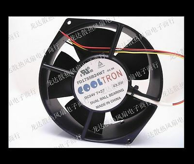 For COOLTRON cooling fan FD1755B24W7-61-3H DC24V 43.2W