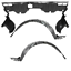 2 Front Fender Liners /& Engine Under Splash Shield For 06-2011 Honda Civic Sedan