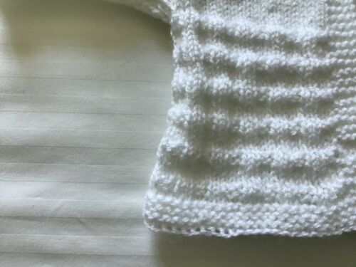 A BEAUTIFUL HAND KNITTED CARDIGAN FOR 0-3 MONTHS