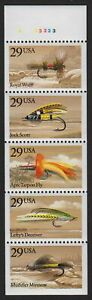 1991-Fishing-Flies-never-folded-pane-Sc-2549a-Pl-A33233-CV-30