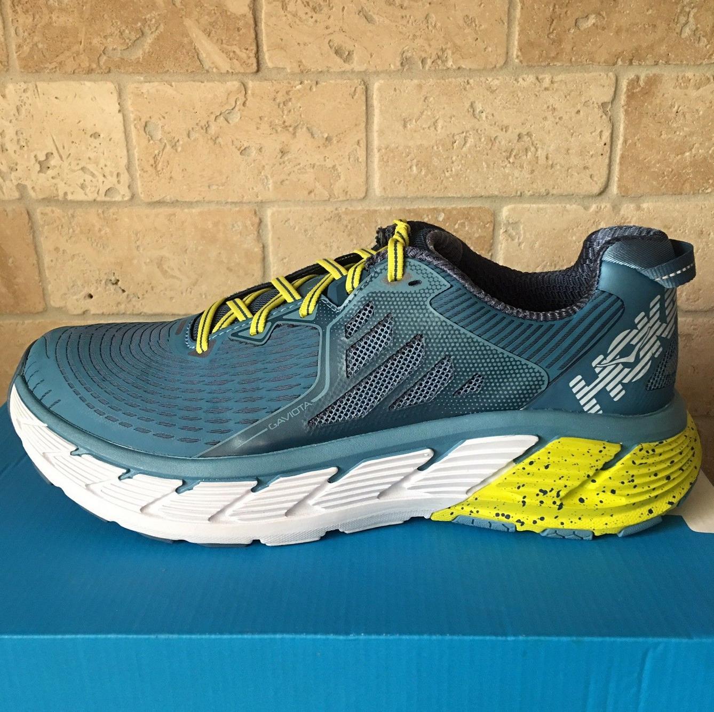 NEW  Men's (D,M) HOKA ONE ONE Gaviota Niagara Midnight Green bluee Running shoes
