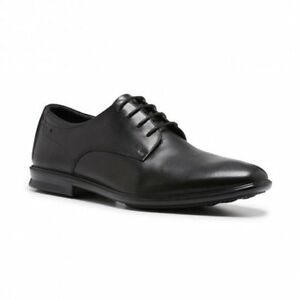 HUSH-PUPPIES-MENS-CALE-LACE-UP-BLACK-LEATHER-COMFORT-WORK-SHOES