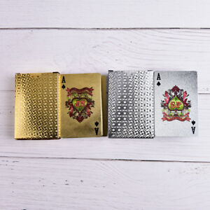 Waterproof-Gold-Plastic-3D-Embossing-Poker-Cards-Advanced-Plastic-Playing-hbT-xd