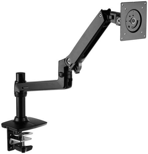 Aluminum AmazonBasics Premium Monitor Stand Single Lift Engine Arm Mount