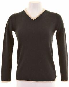KAPPA-Womens-Crew-Neck-Jumper-Sweater-Size-6-XS-Black-Wool-KA08