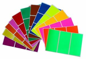 Name Stickers Colored Coding Office Identification Badges 4 x 2 Inch 39 Pack