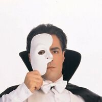 Phantom Of The Opera Half Mask Blank Male Costume Face White Mask Paintable