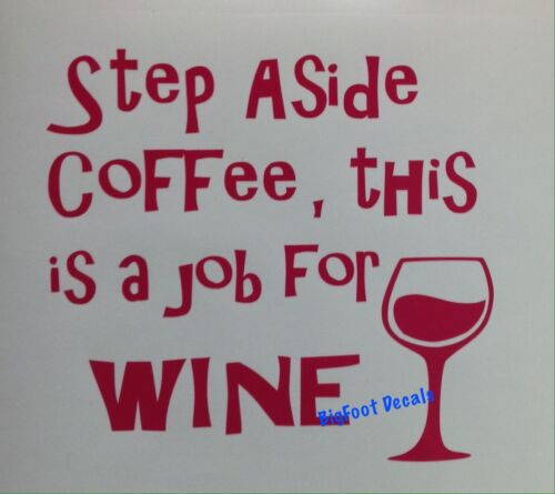 Funny Coffee And Wine Decal Java Merlot Red White Car Wall Truck Window Sticker