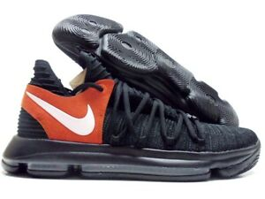 71d0e17bed36 NIKE ZOOM KD10 TEXAS PROMO BLACK WHITE-DESERT ORANGE SIZE MEN S 15 ...