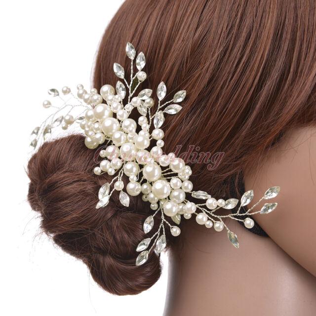 Bridal Hair Comb Pearl Crystal Bridesmaid Hair Clip Wedding Accessory Headpiece