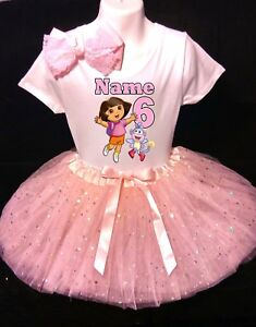 Image Is Loading Dora The Explorer With NAME 6th Birthday Dress