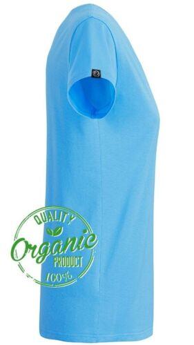 JAN 8007 Damen Bio Baumwolle Basic Girlie T-Shirt Sky Blau COMPANIEER Frauen ...