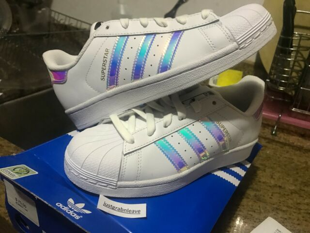 Pink Iridescent Hologram Junior Superstar Ac7705 Adidas J Blue White rCBexdo