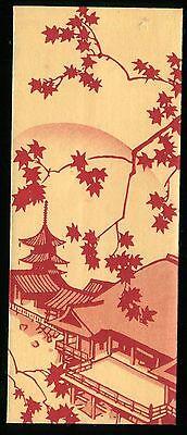 Japanese woodblock print art deco antique Envelope Meiji-Taisho (-1935) Kiyomizu