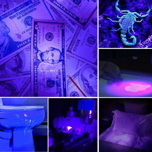 UV Ultra Violet LED Flashlight Blacklight Light 395//365 nM Inspection Lamp Fw