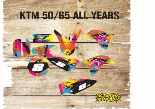 KTM SX 50 65 Graphics Kit Sticker Kit Decals Factory Kit MX