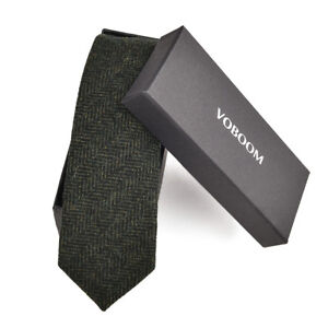 Men-039-s-Wool-Ties-Herringbone-Tweed-Classic-Business-Wedding-Formal-Wool-Ties-B3