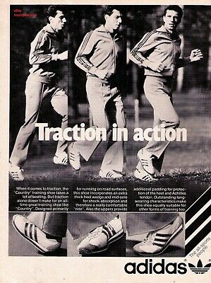 Classic 1970 S Adidas Country Traction In Action Vintage Print Advertisement Ebay