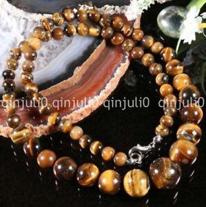 Fashion-Natural-6-14MM-Genuine-tigers-eye-gemstone-round-beads-necklace-18-034