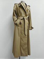 Classic vintage Burberrys' gabardine mac full length coat with check lining UK10