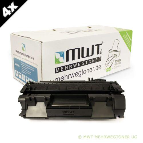 4x MWT Toner für HP LaserJet M-2727-NFS P-2013-N M-2727-NF P-2012-N P-2014-N