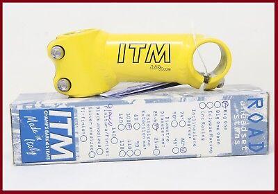 Mercatone ITM BIG ONE NOS stem Bright Yellow Bianchi. Pantani 25,6//110mm