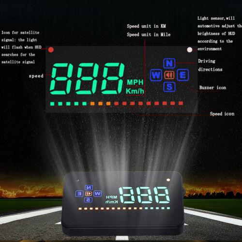 Universal GPS HUD Digital Head Up Display Car Trucks Speedometer Speed Warning