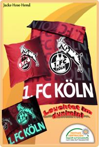 Bettwäsche 1 Fc Köln Baumwolle Leuchtet Im Dunkeln Gr 135x200cm