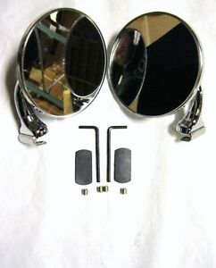 4 Quot Wide Polished Stainless Side Peep Mirrors With Convex