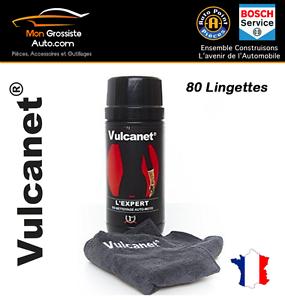 Vulcanet 80 Lingettes de nettoyage sans eau avec Microfibre