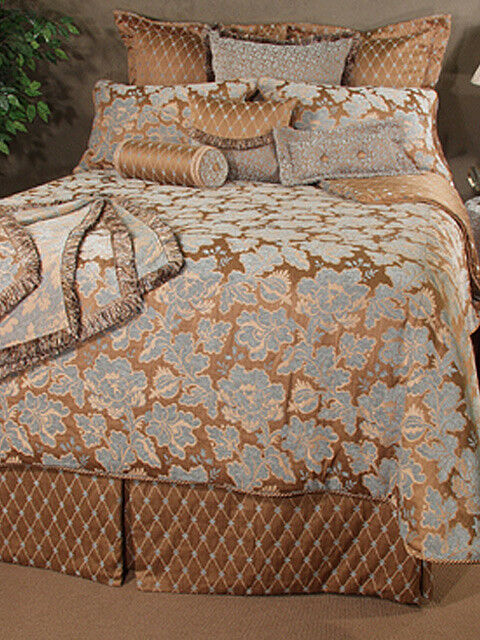 Bettding Inspirations Newcastle Königin Comforter Set Ensemble braun and Blau NIP