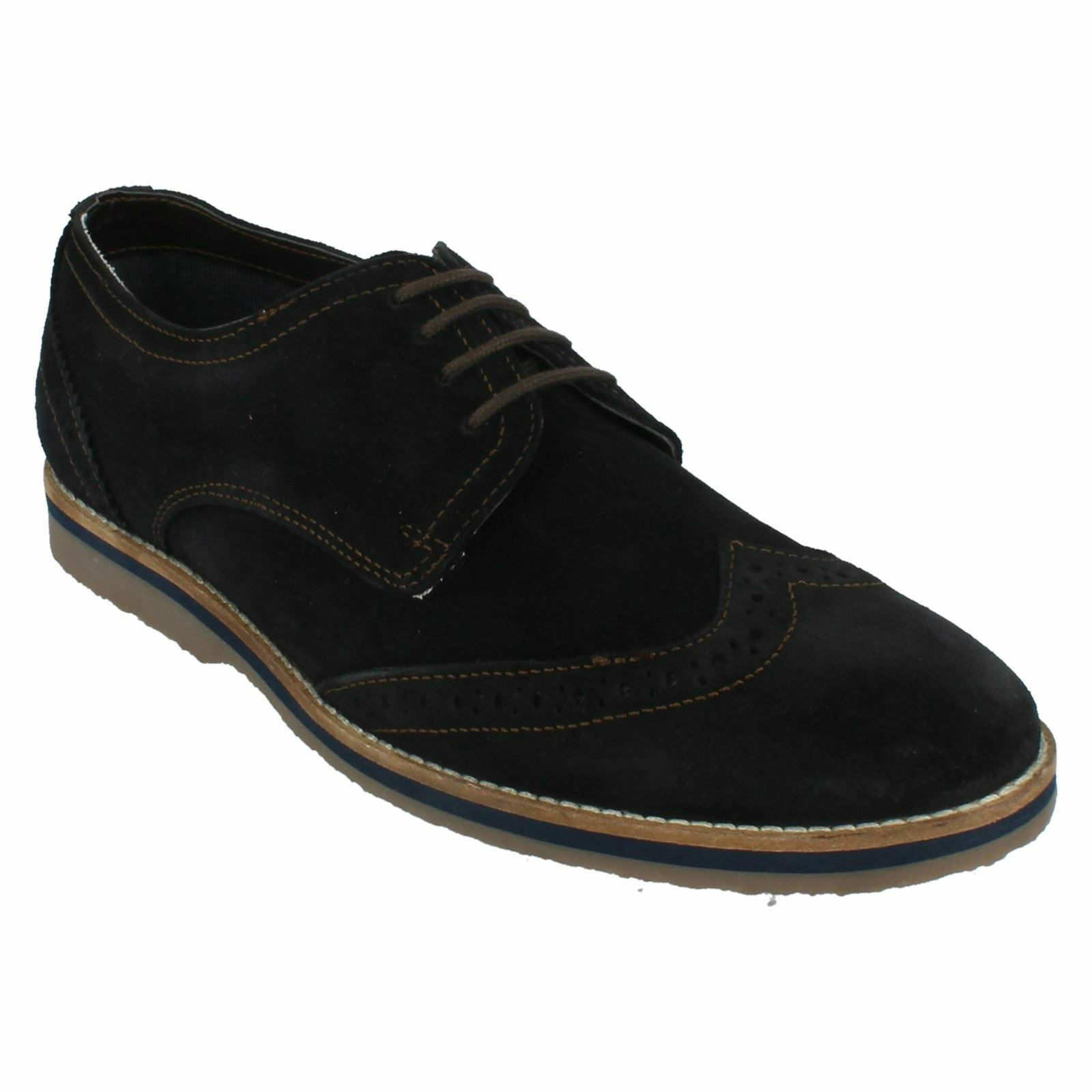 Da Uomo HUSH PUPPIES SEBASTIAN all'inglese Smart Scarpe Stringati In Pelle Scamosciata Scarpe Smart Brogues 5363bc