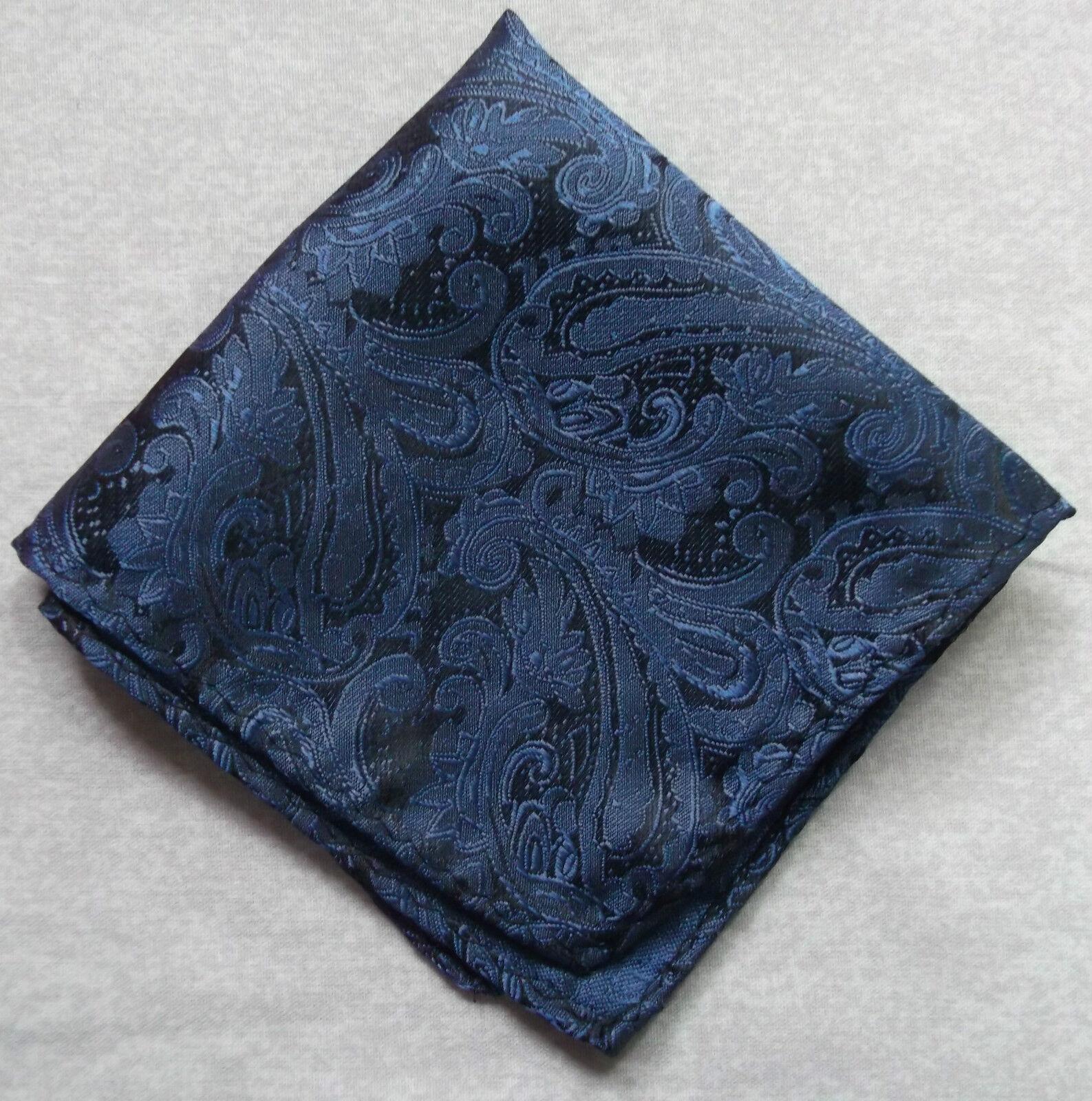 Pañuelo Cuadrado de Bolsillo Hombre Pañuelo Azul Marino Cachemira Azul