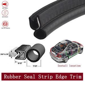 12ft Lock Seal Trim Rubber Strip Car Door Trunk Edge Crash-proof & Soundproofing