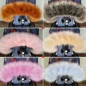 Luxury-Pram-Fur-Hood-Furs-Trim-Baby-Pram-Bugaboo-Chicco-Joie-Mothercare-Britax