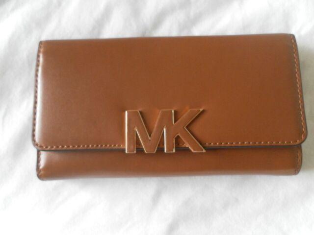 cdf17f6292f0 Michael Kors Florence Luggage Leather LG Billfold Wallet 35f5gree3l ...