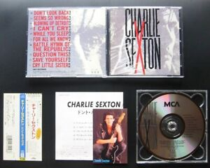 CHARLIE-SEXTON-s-t-1989-JAPAN-CD-w-OBI-PHOTOCARD-25P2-2458-AOR-Don-039-t-Look-Back