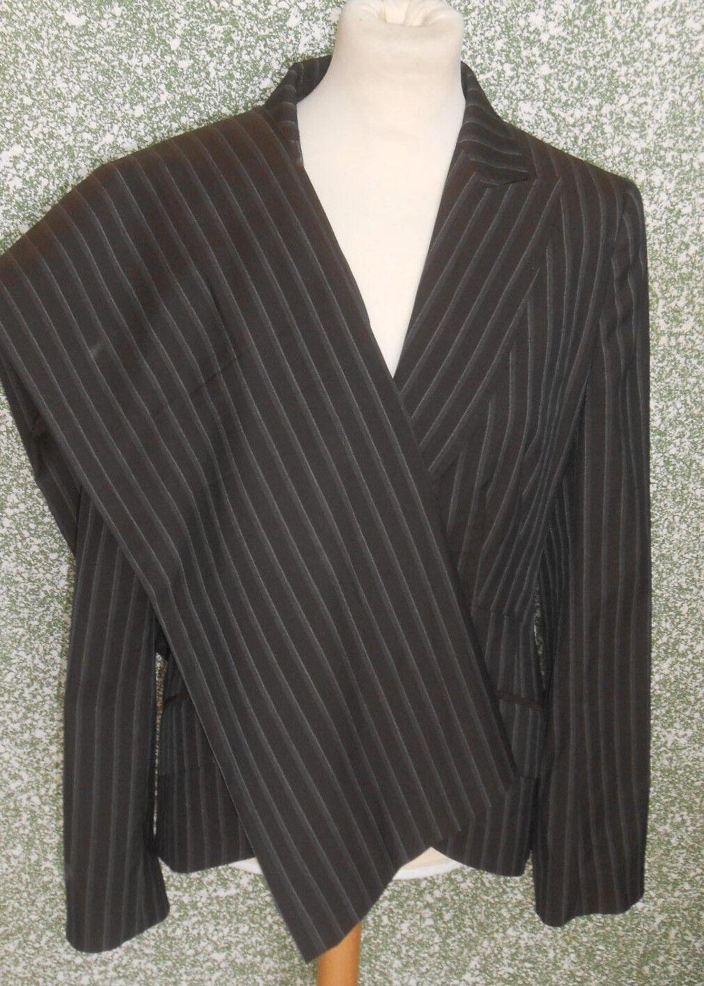 70 X1 Rene Lezard Pantaloni Completo Blazer + Tgl 38 brown Scuro Righe