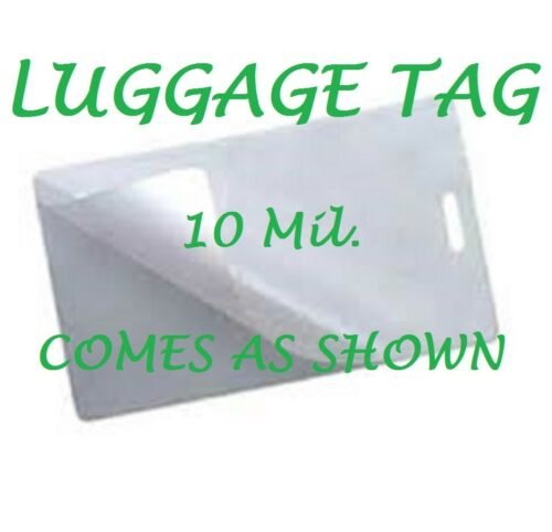 500 Luggage Tag 10 Mil Laminating Pouches Laminator Sheets With Slot 2.5 x 4.25